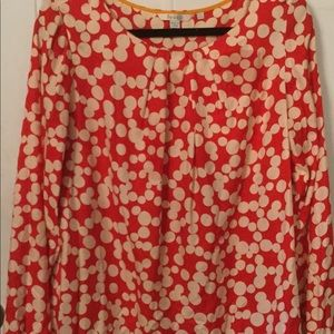 Boden Orange and White Top - size 16